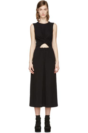 T by Alexander Wang - Black Front Twist Dress