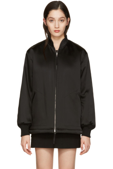 T by Alexander Wang - Black Bomber Jacket