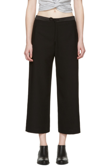 T by Alexander Wang - Black Crepe Trousers