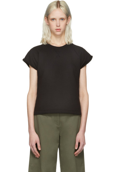 T by Alexander Wang - Black Cap Sleeve Pullover