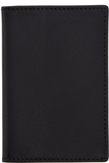 Comme des Garçons Wallets - Black Leather Card Holder