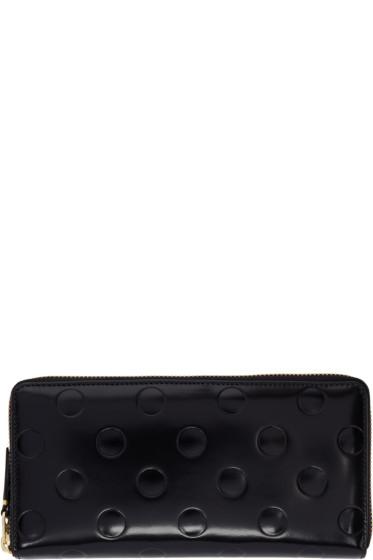 Comme des Garçons Wallets - Black Patent Polka Dot Continental Wallet