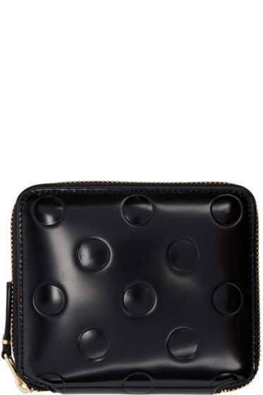 Comme des Garçons Wallets - Black Small Polka Dot Continental Wallet