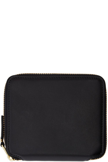 Comme des Garçons Wallets - Black Leather Fold Over Wallet