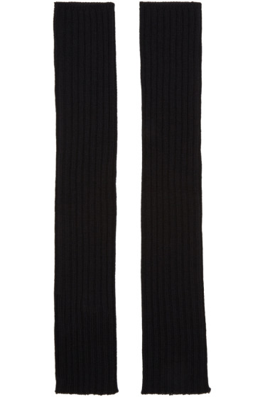 Rick Owens - Black Merino Arm Warmers