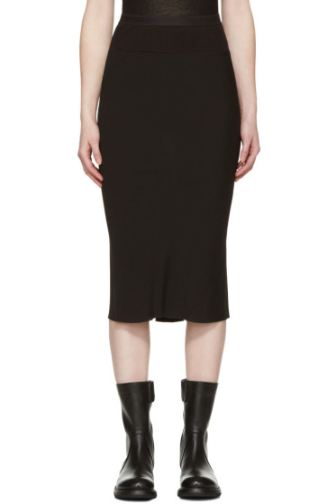 Rick Owens - Black Knee Length Skirt