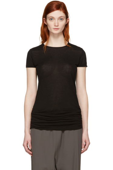 Rick Owens - Black Crewneck T-Shirt