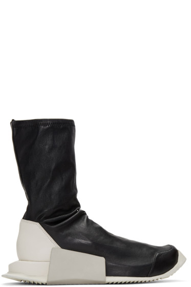 Rick Owens - Black adidas Originals Edition Level Sock Mid-Calf Sneakers