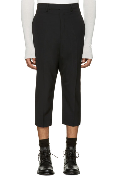 Rick Owens - Black Extreme Cropped Trousers