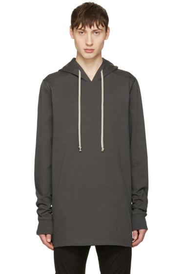 Rick Owens - Grey Pullover Hoodie