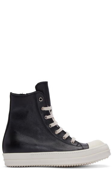 Rick Owens - Black High-Top Sneakers