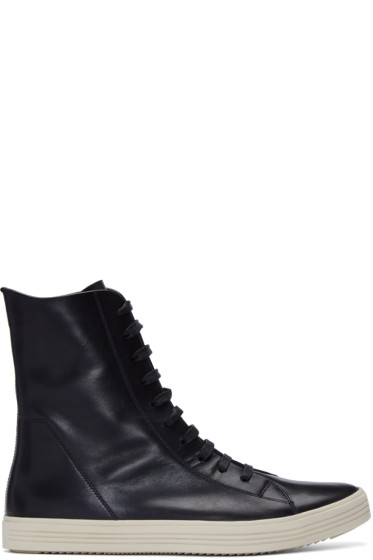 Rick Owens - Black Mastadon High-Top Sneakers