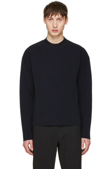 Jil Sander - Navy Cotton Sweater