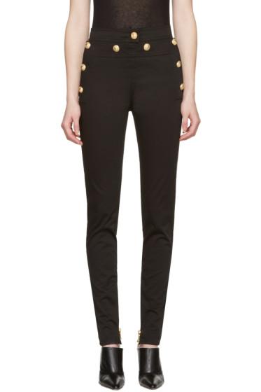 Balmain - Black Gold Buttons Jeans