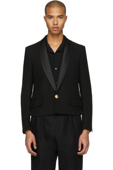 Balmain - Black Short Shawl Blazer