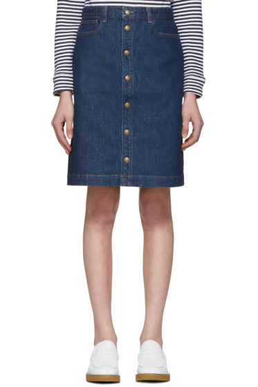 A.P.C. - Blue Therese Skirt