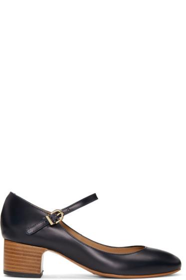 A.P.C. - Navy Victoria Heels