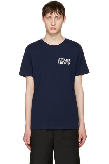 A.P.C. - Navy 'Atelier' Logo T-Shirt