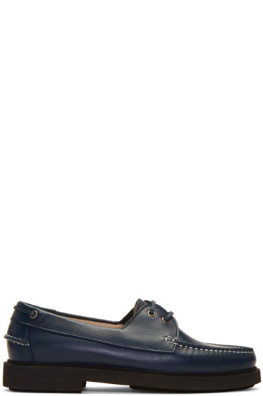 A.P.C. - Navy Basile Boat Shoes