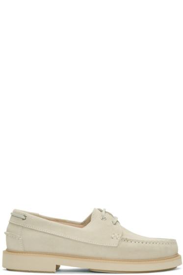A.P.C. - Beige Basile Boat Shoes