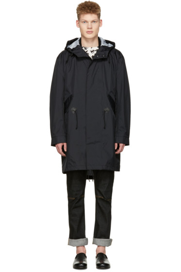 Junya Watanabe - Black Nylon Hooded Jacket