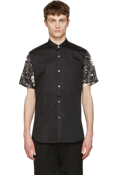 Junya Watanabe - Black Contrast Sleeve Shirt