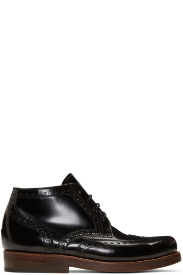 Junya Watanabe - Black Heinrich Dinkelacker Edition Lace-Up Boots