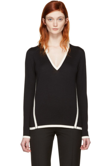 Lanvin - Black Wool Contrast Pullover