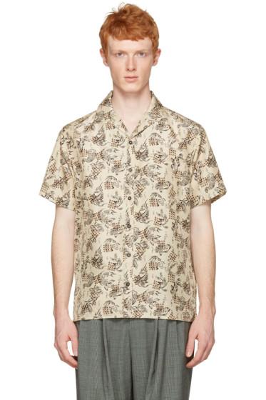 Lanvin - Beige Silk Koi Fish Shirt
