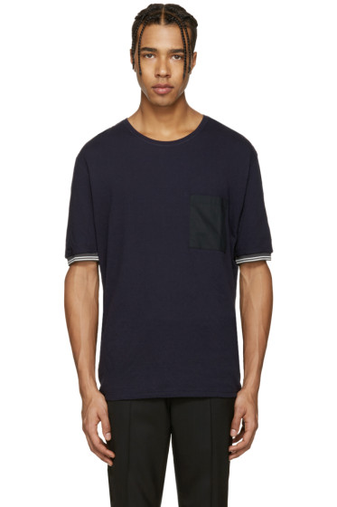 Lanvin - Navy Pocket Stripe T-Shirt