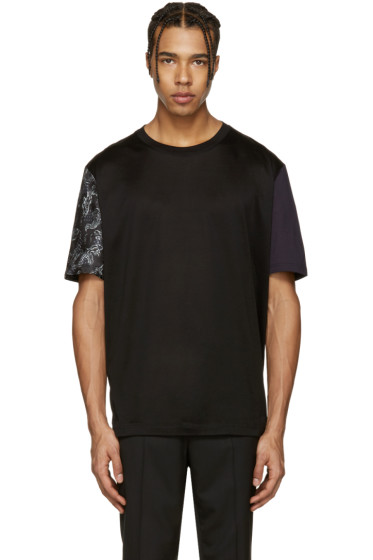 Lanvin - Black Koi Sleeve T-Shirt