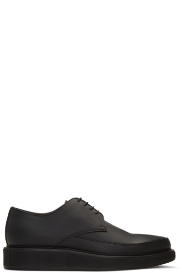 Lanvin - Black Leather Creeper Derbys