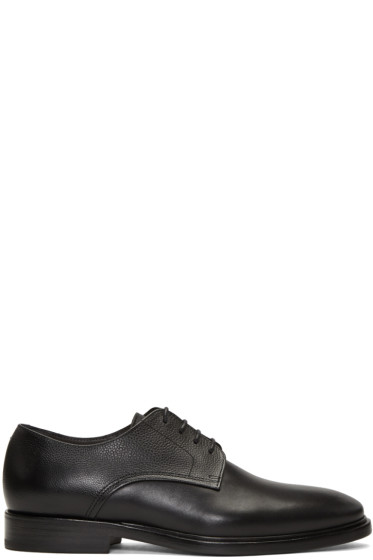 Lanvin - Black Textured Derbys