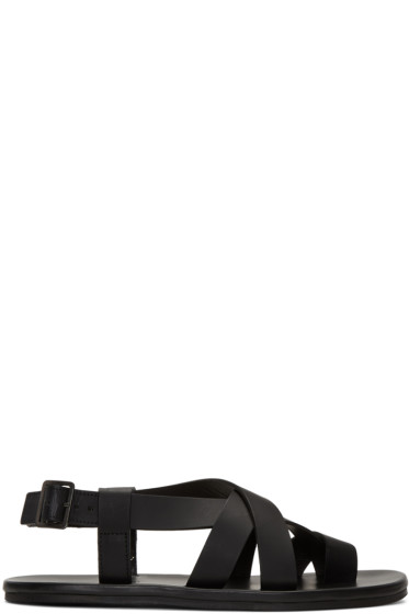 Lanvin - Black Multi Strap Sandals
