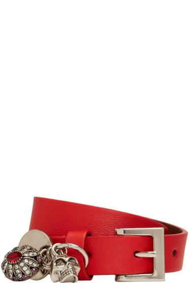 Alexander McQueen - Red Fly Double-Wrap Bracelet