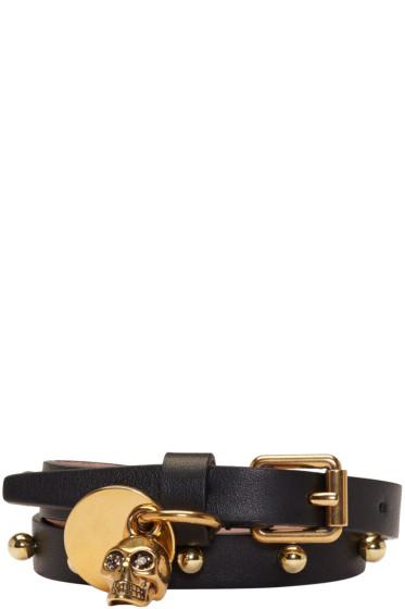 Alexander McQueen - Black Skull Double Wrap Bracelet