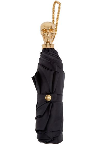 Alexander McQueen - Black Skull Compact Umbrella