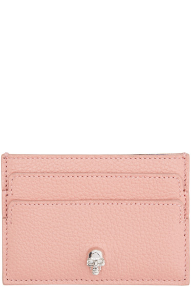 Alexander McQueen - Pink Skull Card Holder