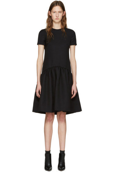 Alexander McQueen - Black Peplum Dress
