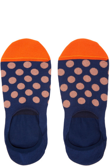 Paul Smith - Navy Spot Loafers Socks