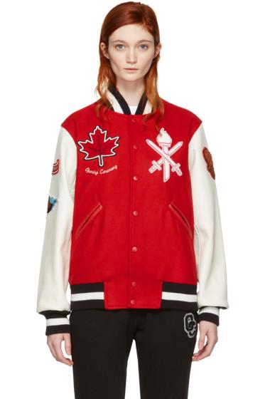 Opening Ceremony - Red Canada Global Varsity Jacket