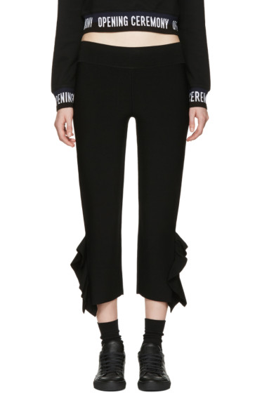 Opening Ceremony - Black Flounce Hem Trousers