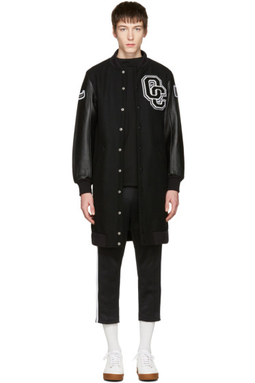 Opening Ceremony - Black Long Varsity Jacket