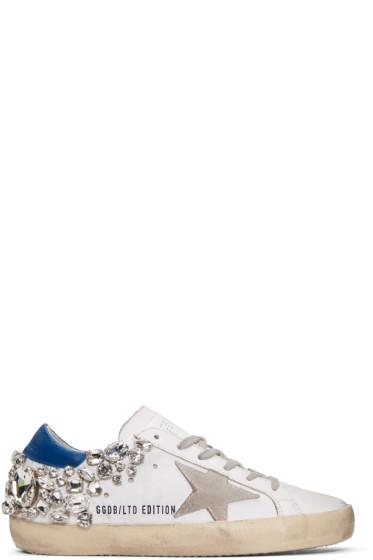Golden Goose - White Diamond Superstar Sneakers
