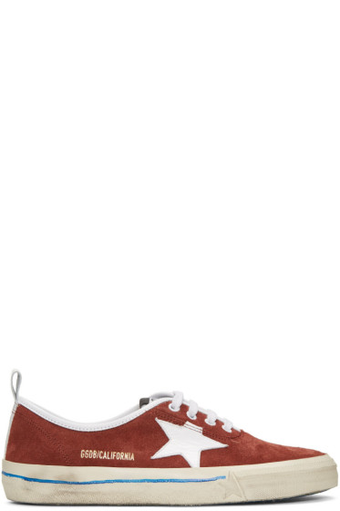 Golden Goose - Burgundy Suede California Sneakers