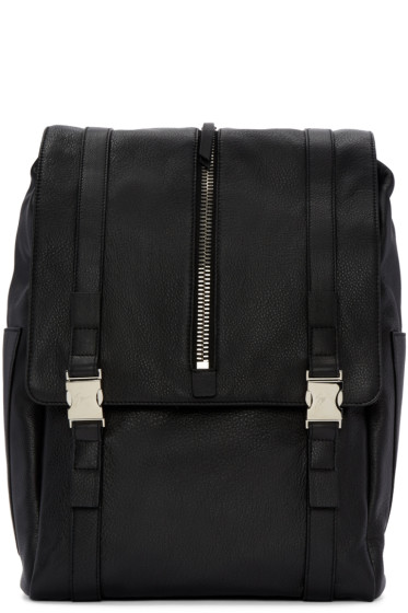 Giuseppe Zanotti - Black Zipper Boris Backpack