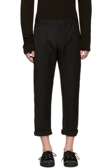 Comme des Garçons Shirt - Black Wool Gabardine Trousers