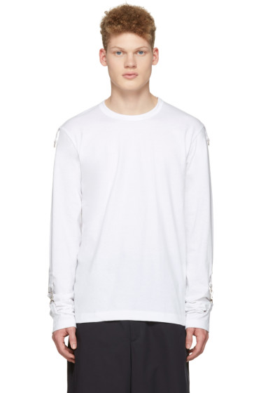 Comme des Garçons Shirt - White Adjustable Sleeves T-Shirt