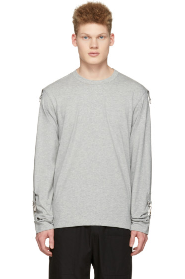 Comme des Garçons Shirt - Grey Adjustable Sleeves T-Shirt