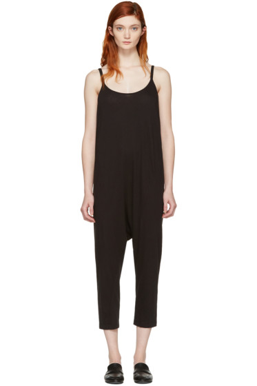 Raquel Allegra - Black Drop Rise Jumpsuit